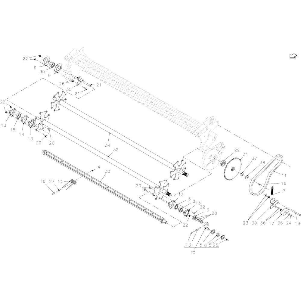 84 Oprapermodule passend voor KUHN FB2135