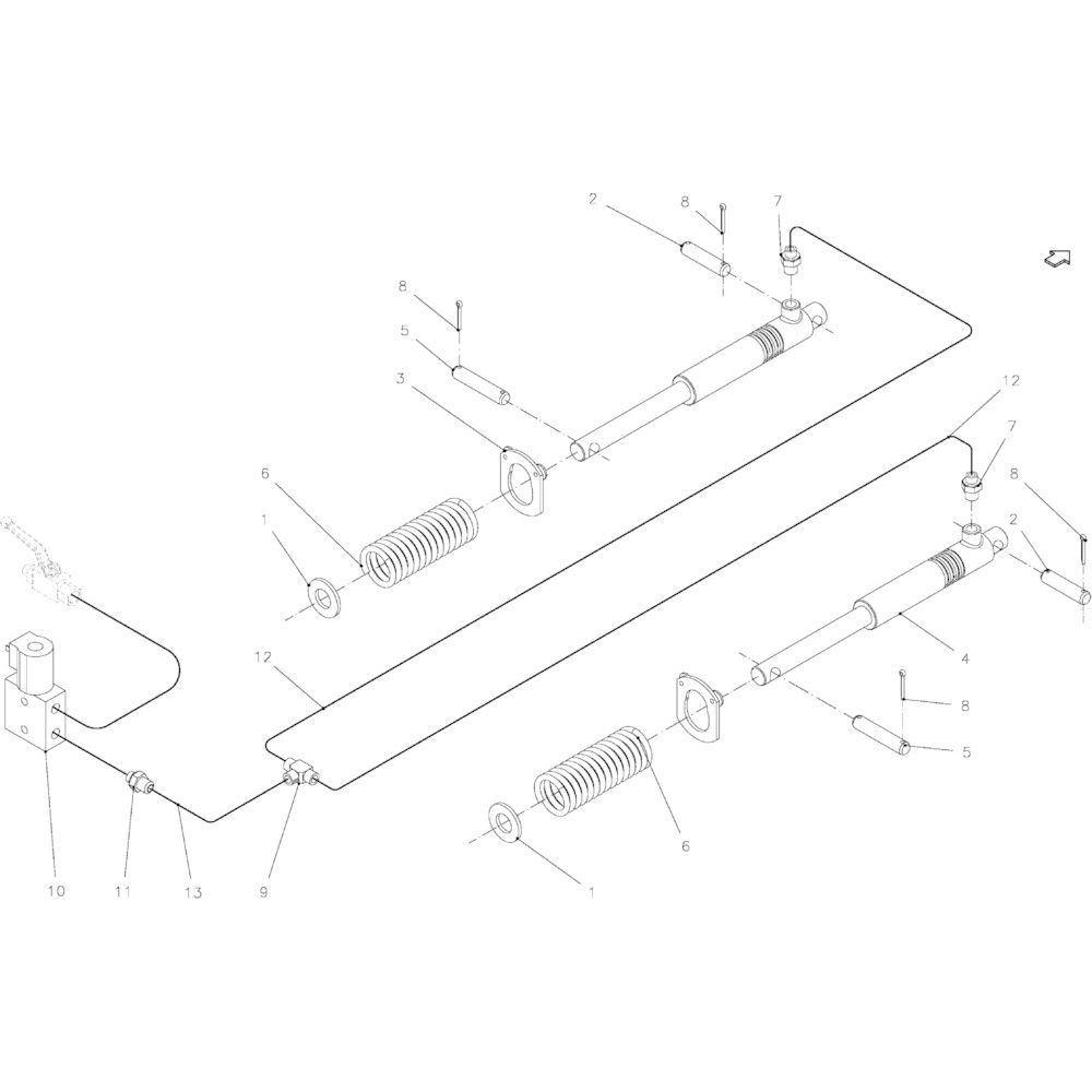 57 Hydraulisch systeem passend voor KUHN FB2135