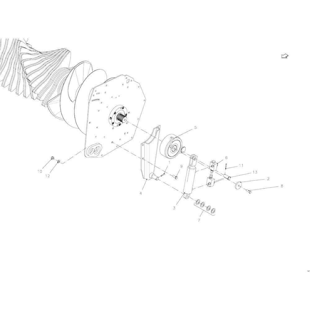 76 Prp-systeem passend voor KUHN FB2135