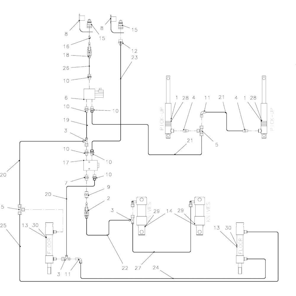 91 Hydraulische onderdelen 23-Oc passend voor KUHN FB2135