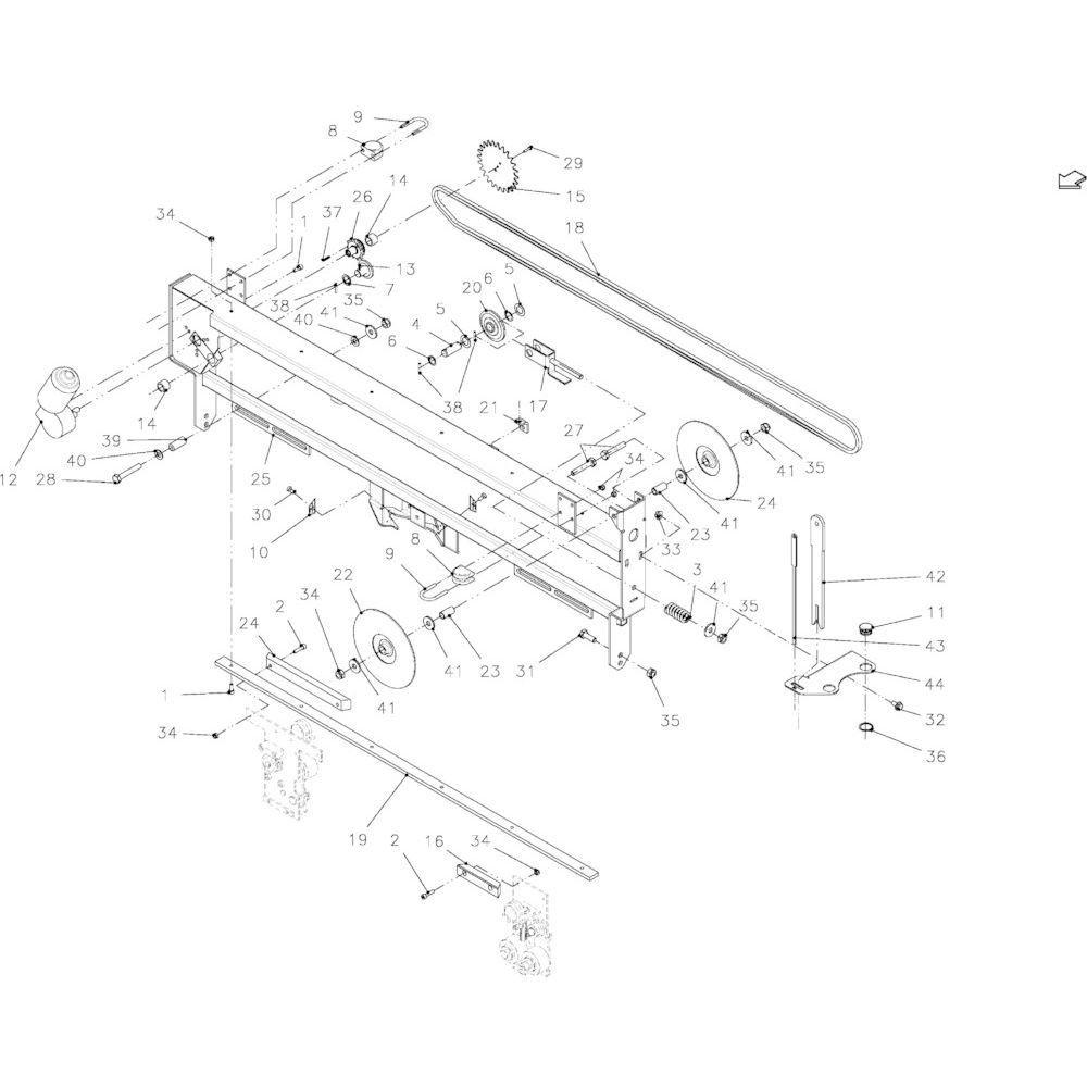 40 Touwbindframe passend voor KUHN FB2135
