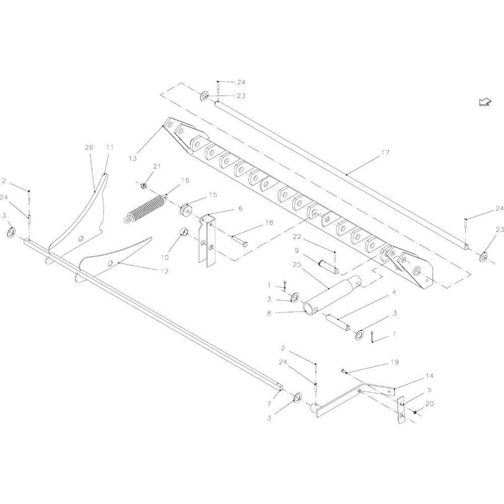 37 Snij-inrichting 14 messen passend voor KUHN FB2135