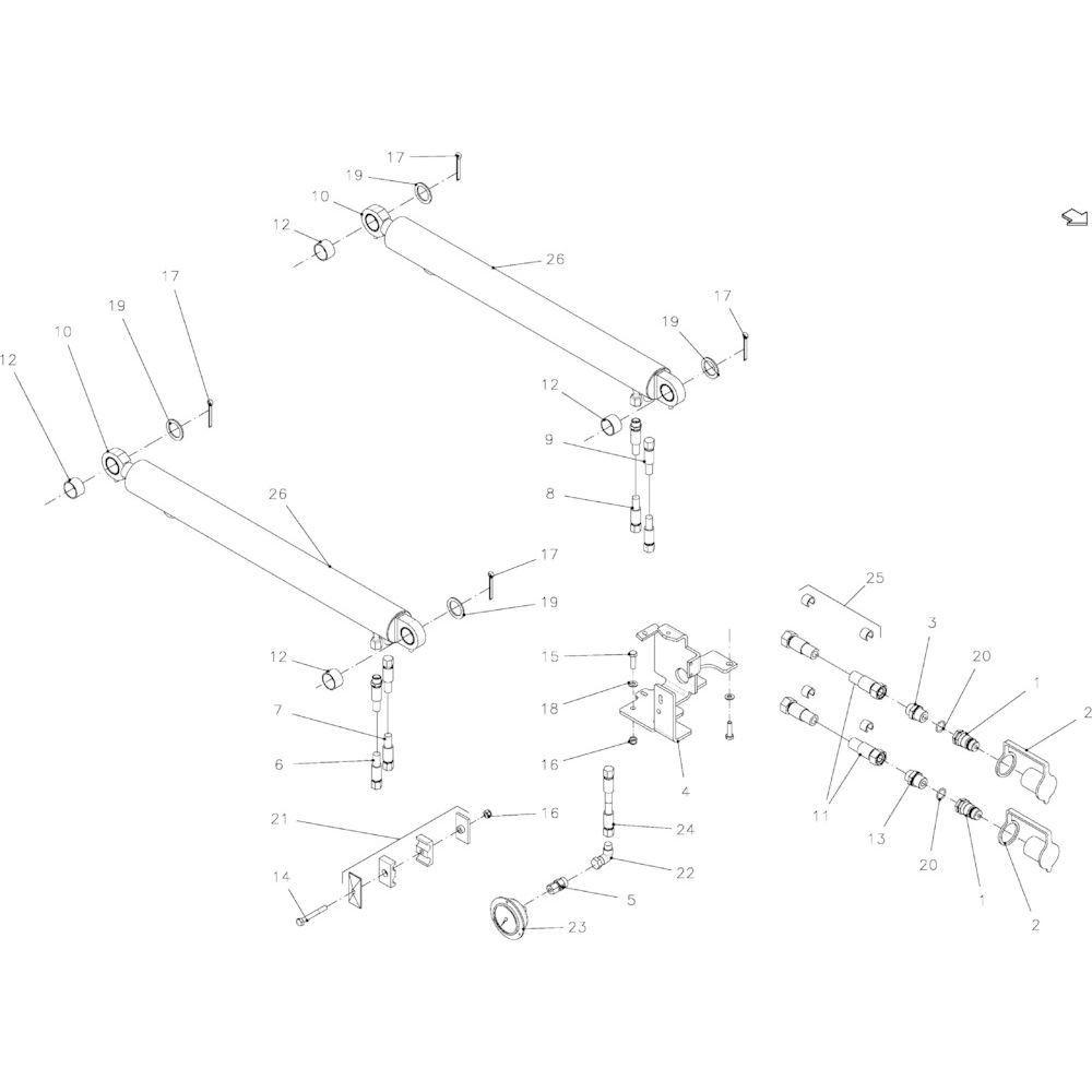 59 Hydraulisch vrijgeefapparaat passend voor KUHN FB2135