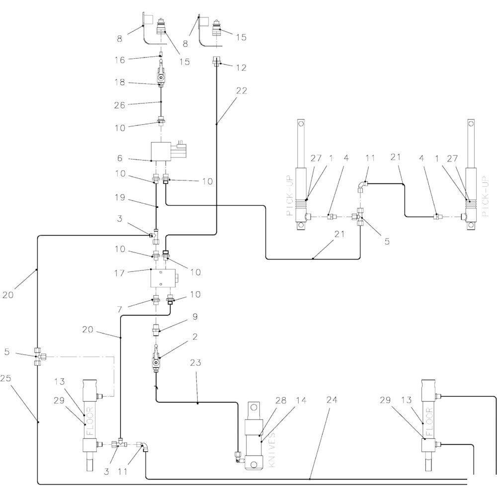 90 Hydraulische onderdelen 14-Oc passend voor KUHN FB2135
