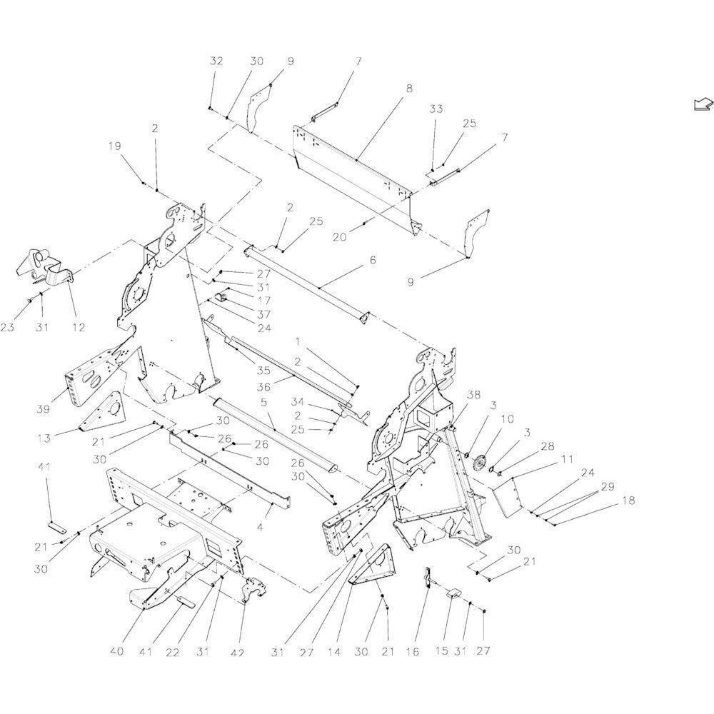 96 Hoofdframe passend voor KUHN FB2135