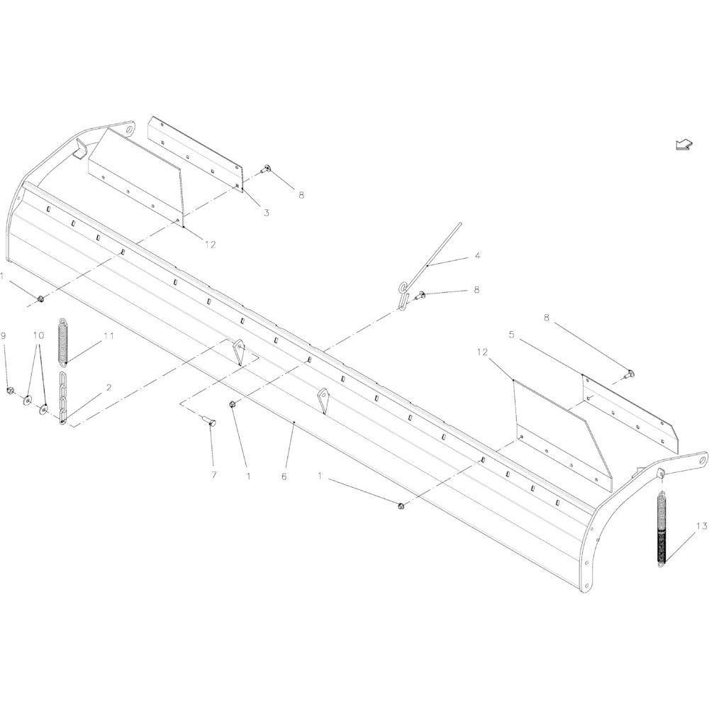 72 Keerplaat 14-Oc passend voor KUHN FB2135