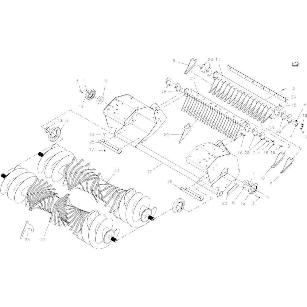 86 Rotor 14-Oc+23-Oc passend voor KUHN FB2135