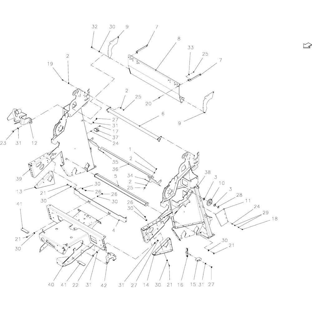 16 Hoofdframe passend voor KUHN FB2135