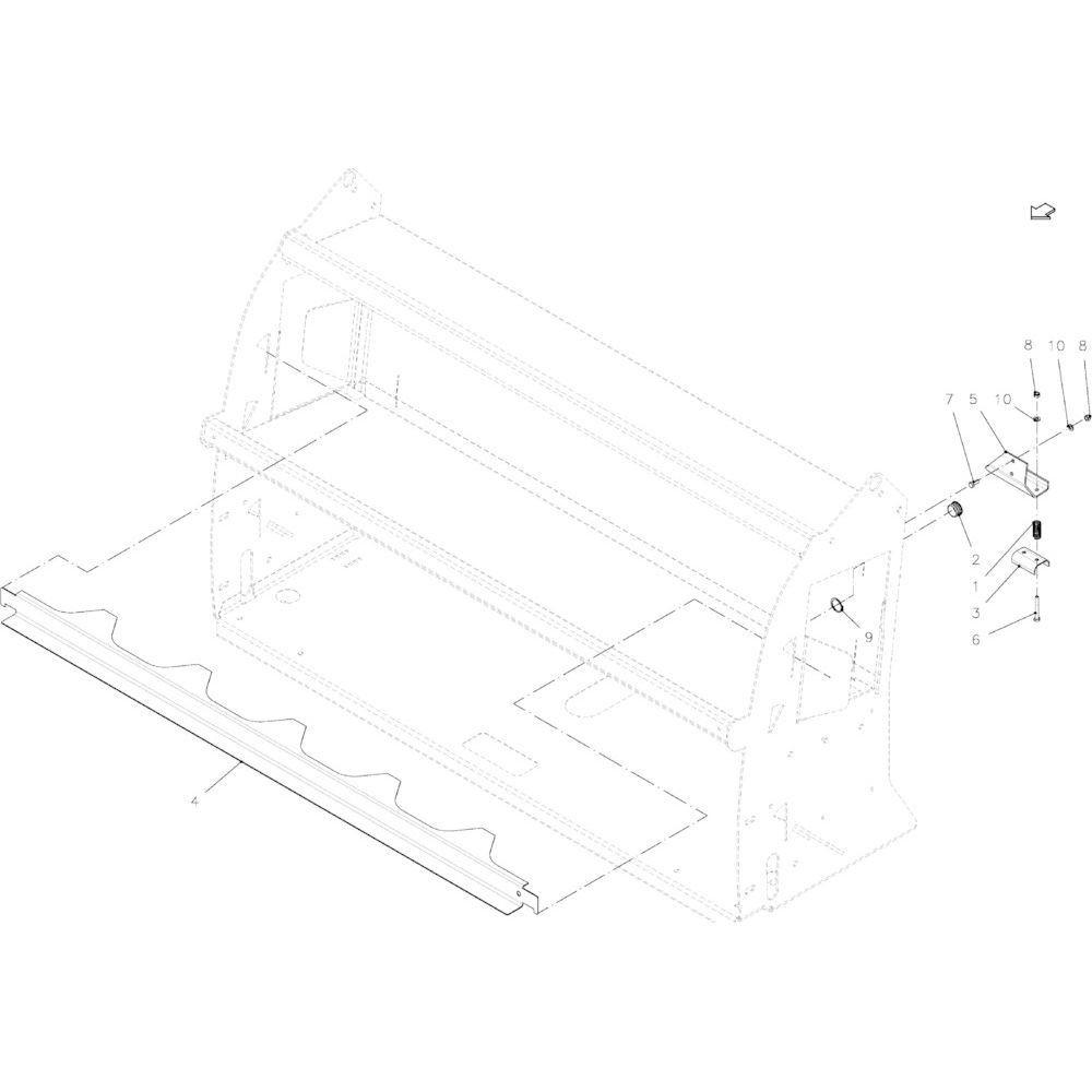 45 Adapter passend voor KUHN FB2135