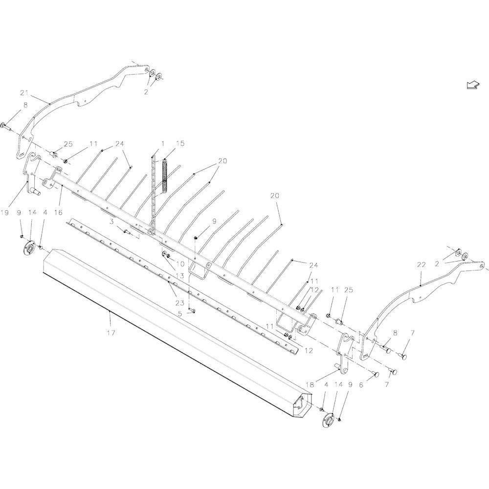 29 Opraper rol passend voor KUHN FB2135