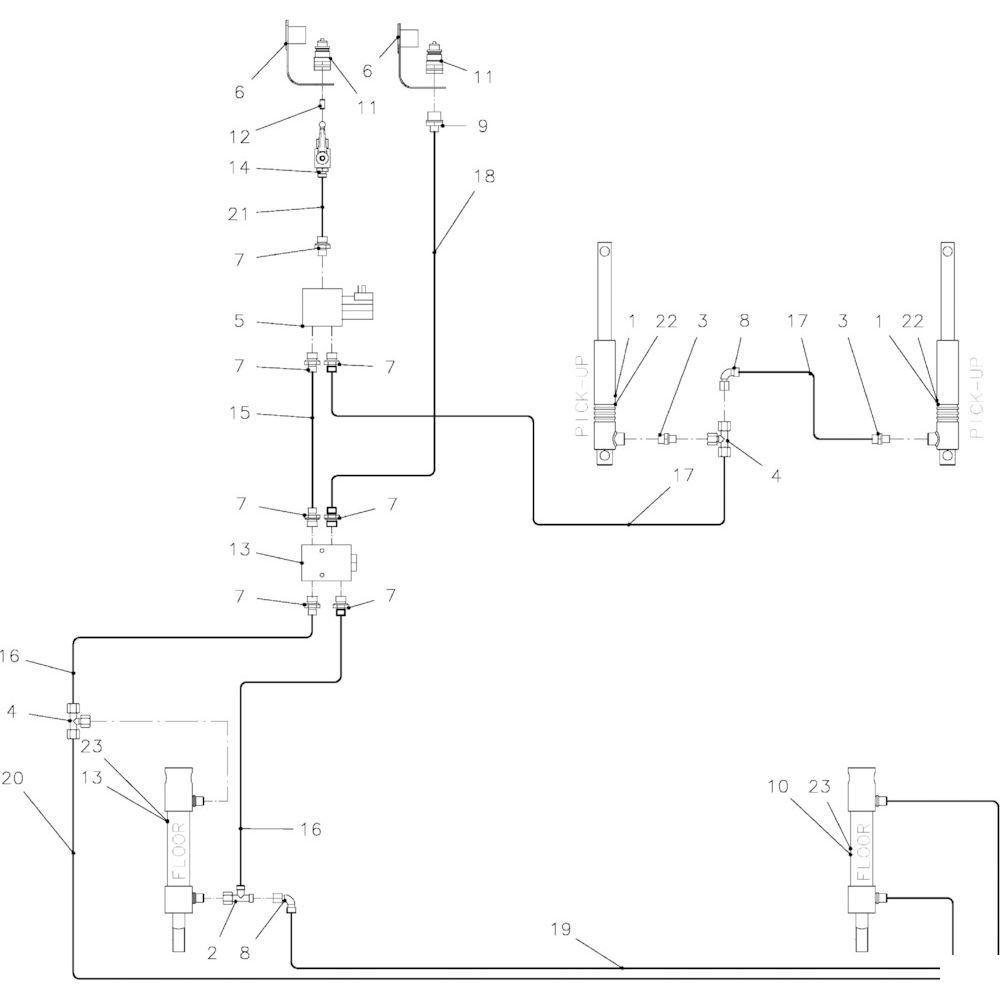 57 Hydraulisch systeem rotor passend voor KUHN FB2135