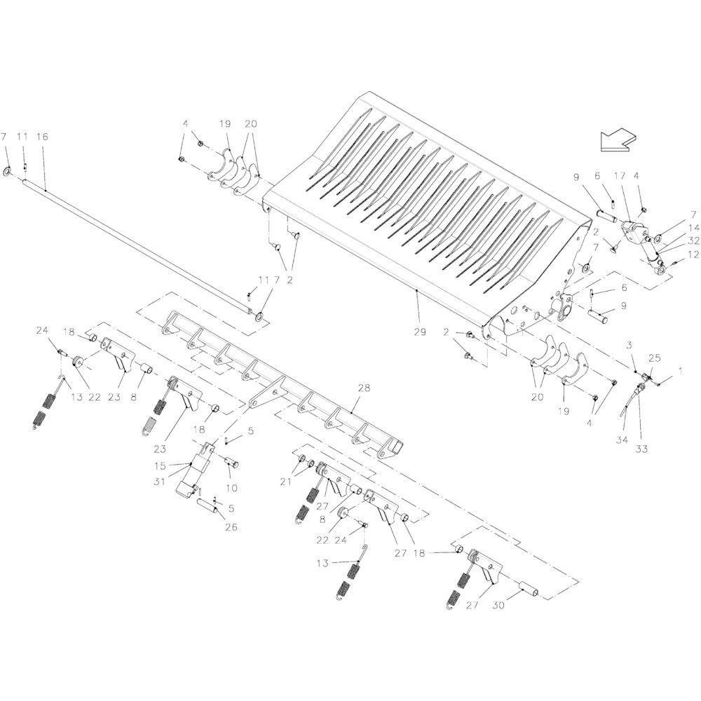 35 Valklep 14-Oc passend voor KUHN FB2135