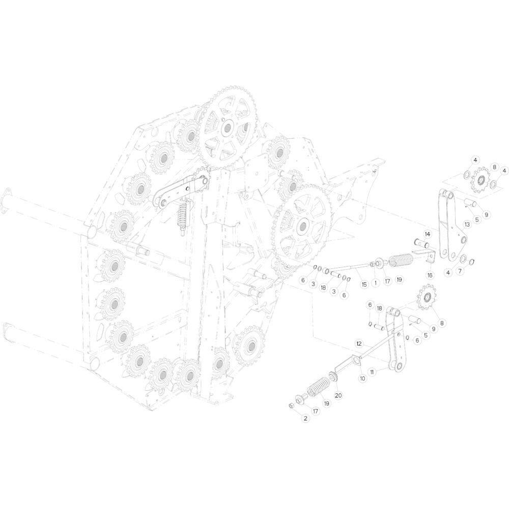 19 Kettingspanner passend voor KUHN FB2135