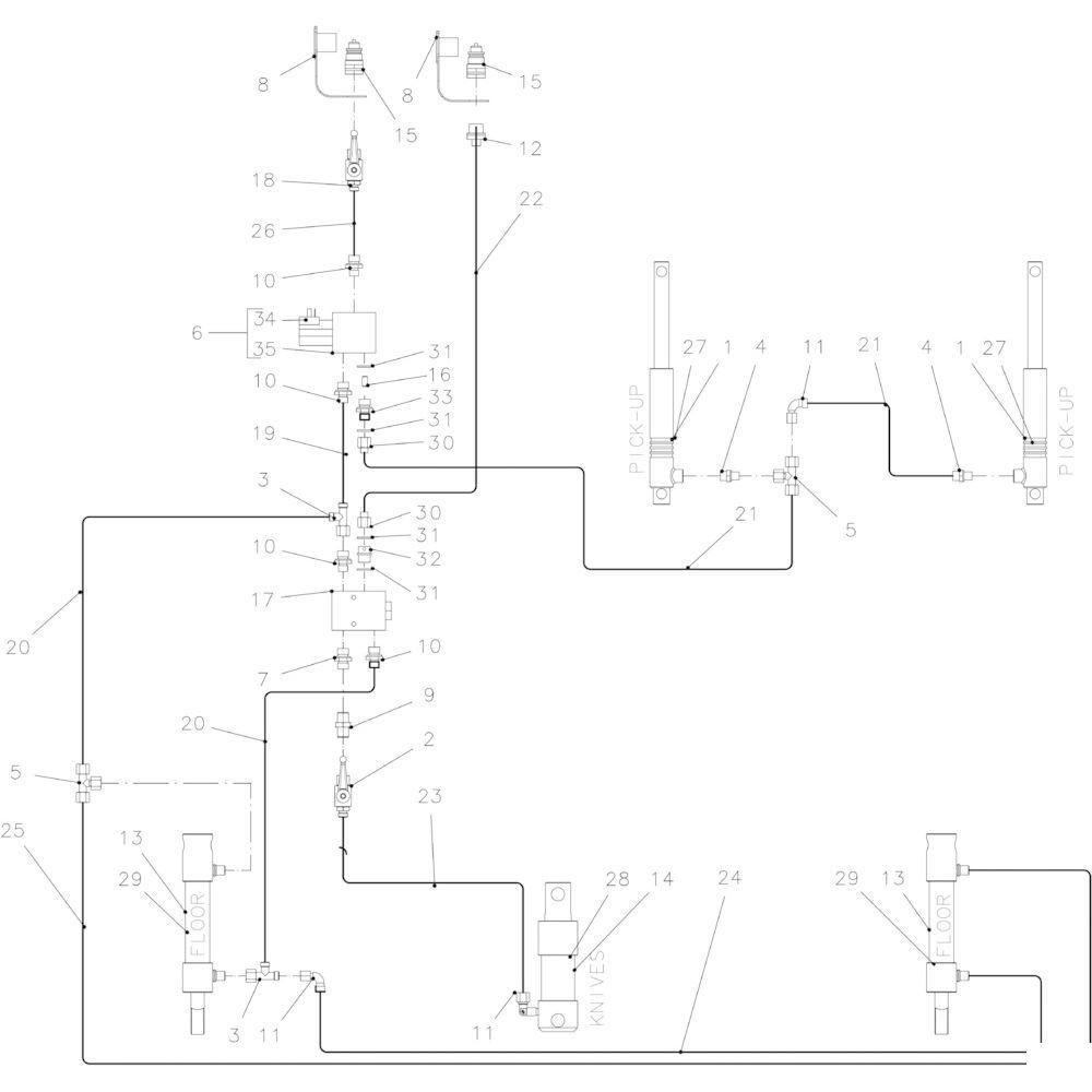 40 Hydraulisch 14-0C passend voor KUHN FB2135