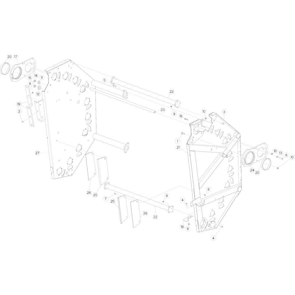 13 Achterklep passend voor KUHN FB2135