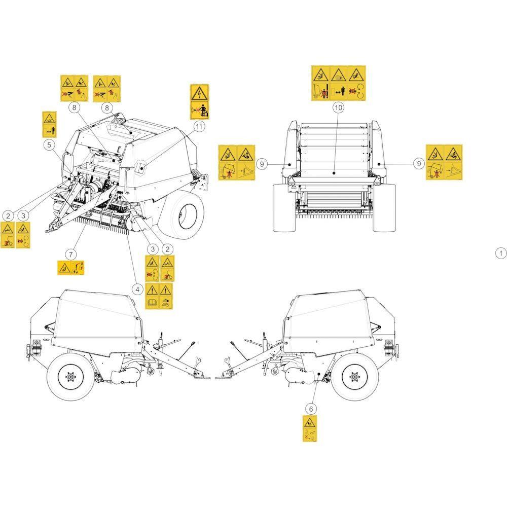 57 Stickers veiligheid passend voor KUHN FB2135