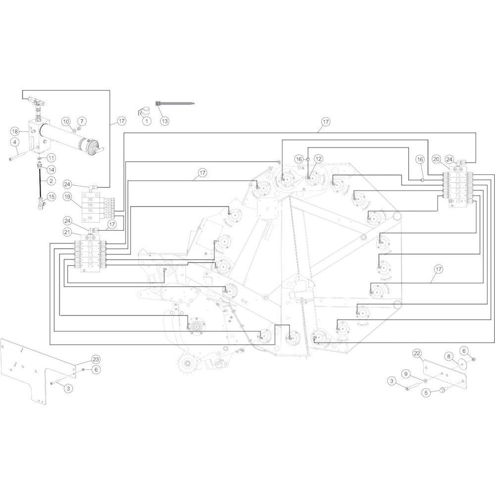 52 Smeersysteem automatisch passend voor KUHN FB2135