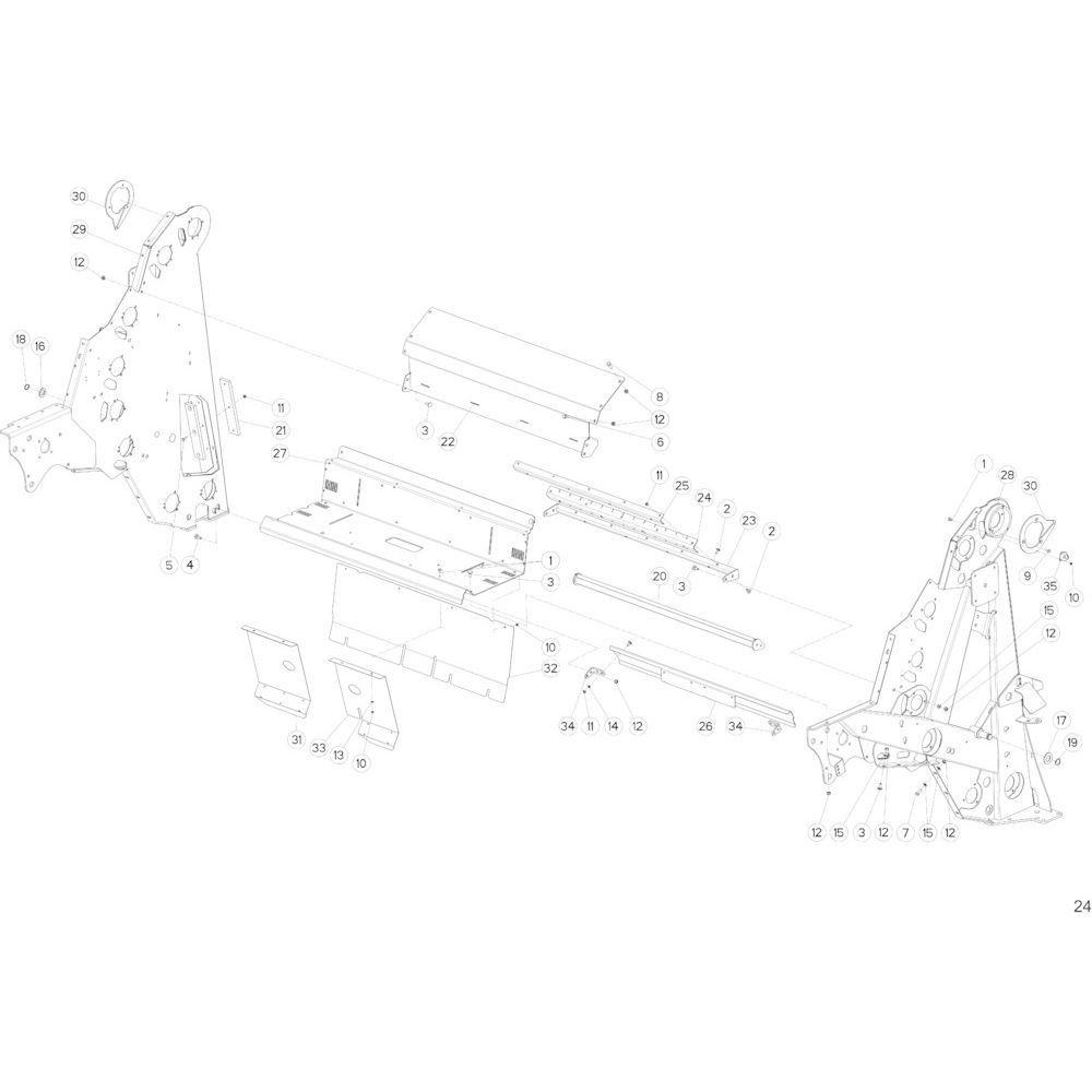 12 Hoofdframe passend voor KUHN FB2135