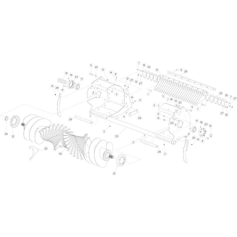 28 Rotor 23-0C passend voor KUHN FB2135