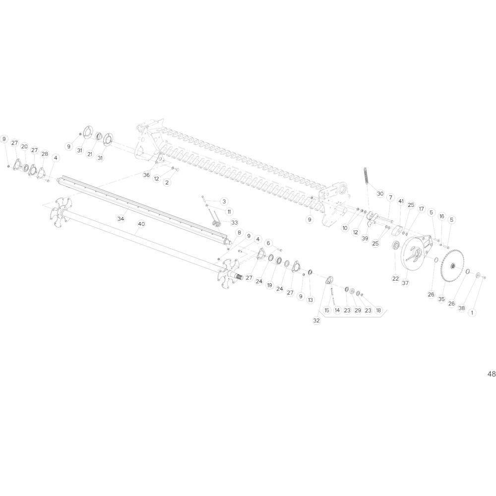 24 Opraper passend voor KUHN FB2135
