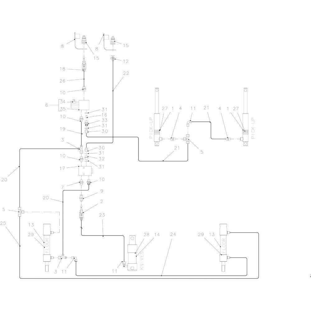 41 Hydraulisch 14-0C passend voor KUHN FB2135