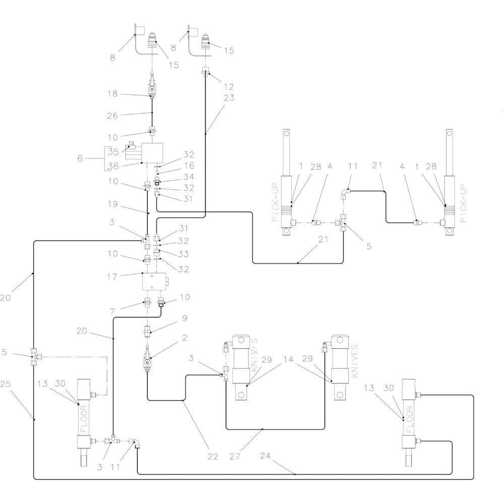 42 Hydraulisch 23-0C passend voor KUHN FB2135