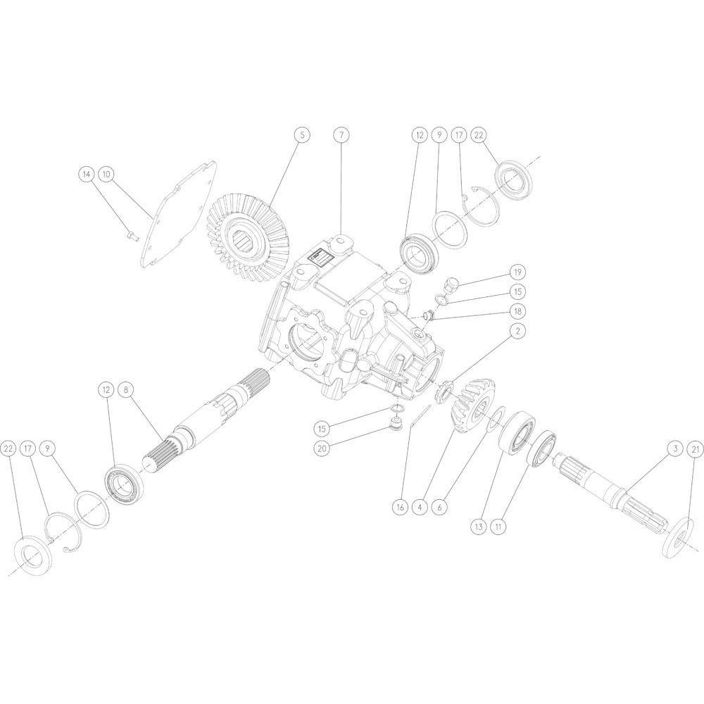 02 Tandwielkast 540 omw/min passend voor KUHN FB2135