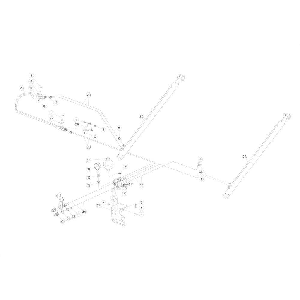 43 Hydraulische achterklep passend voor KUHN FB2135