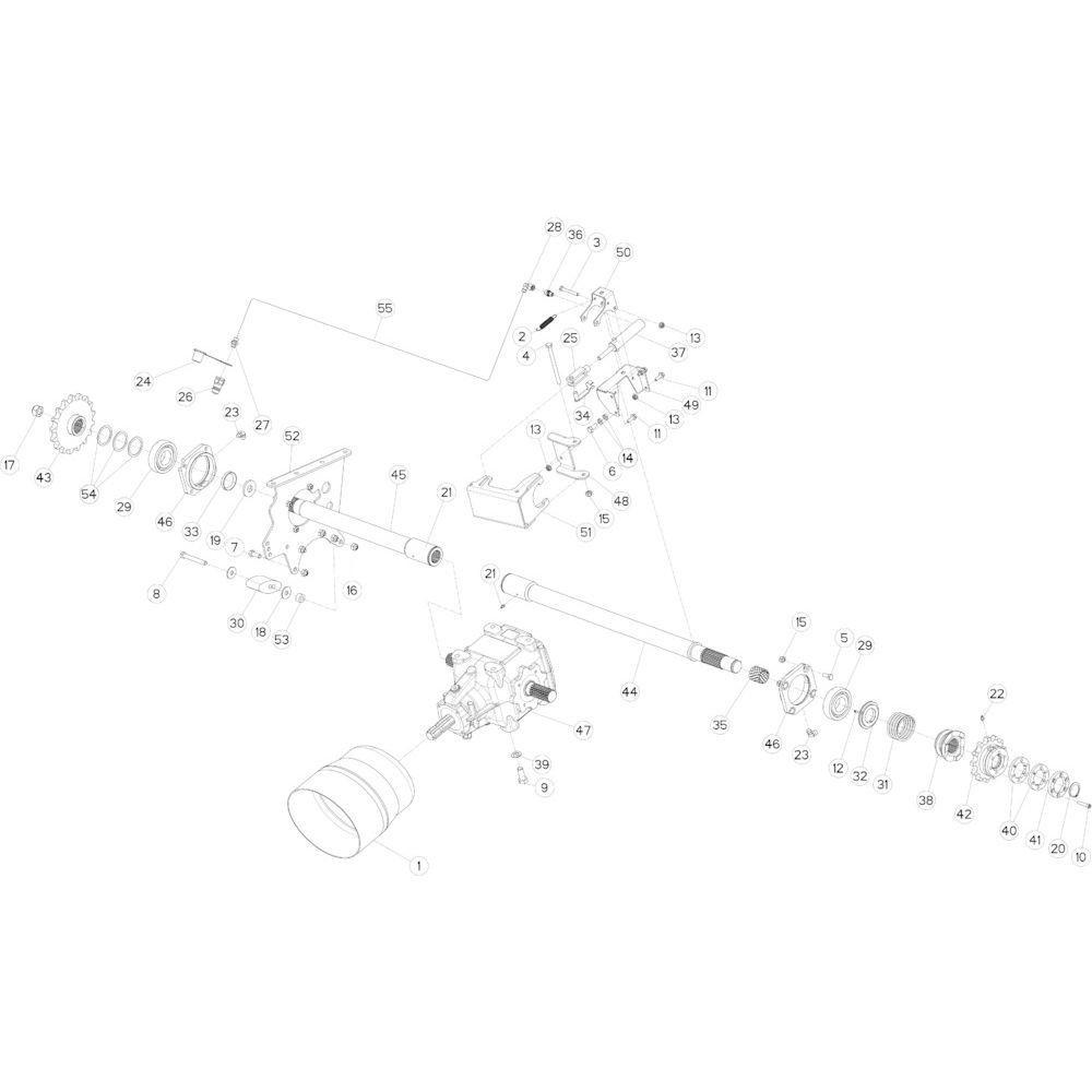01 Aandrijving passend voor KUHN FB2135