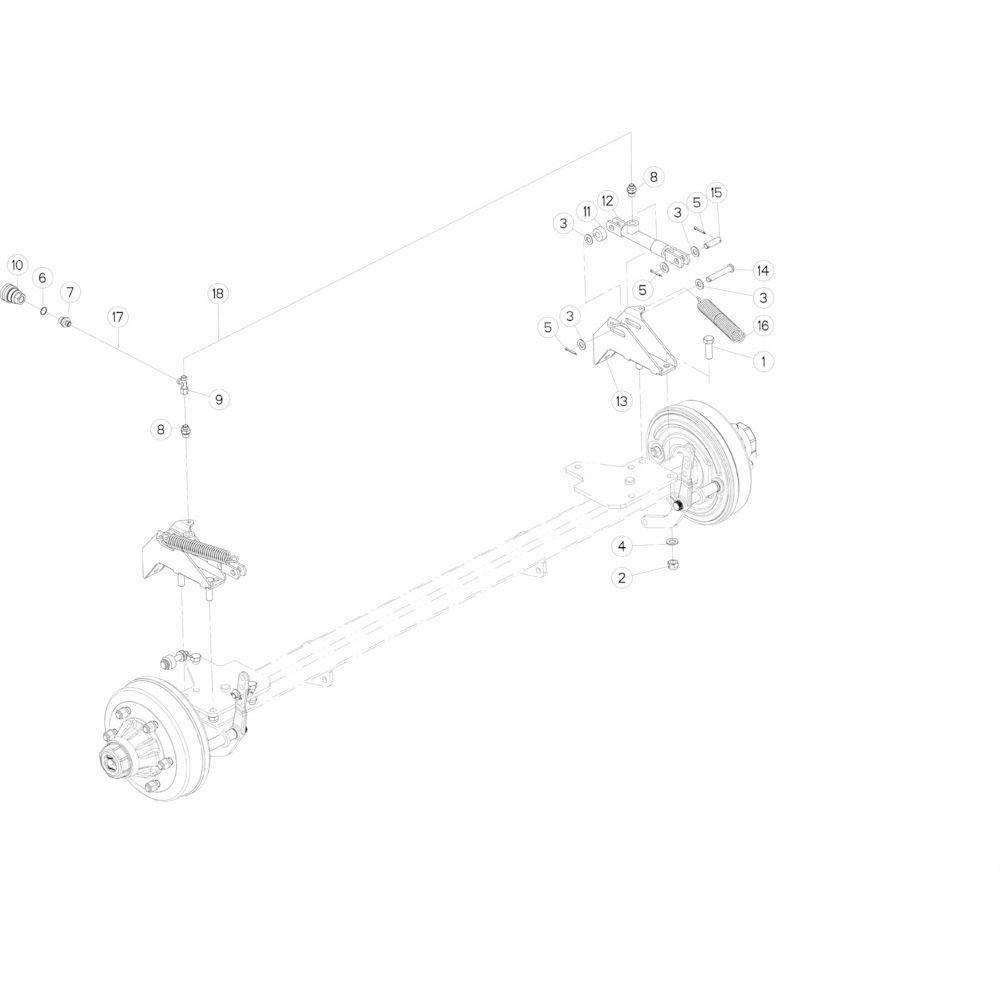 10 Hydraulische remmen passend voor KUHN FB2135