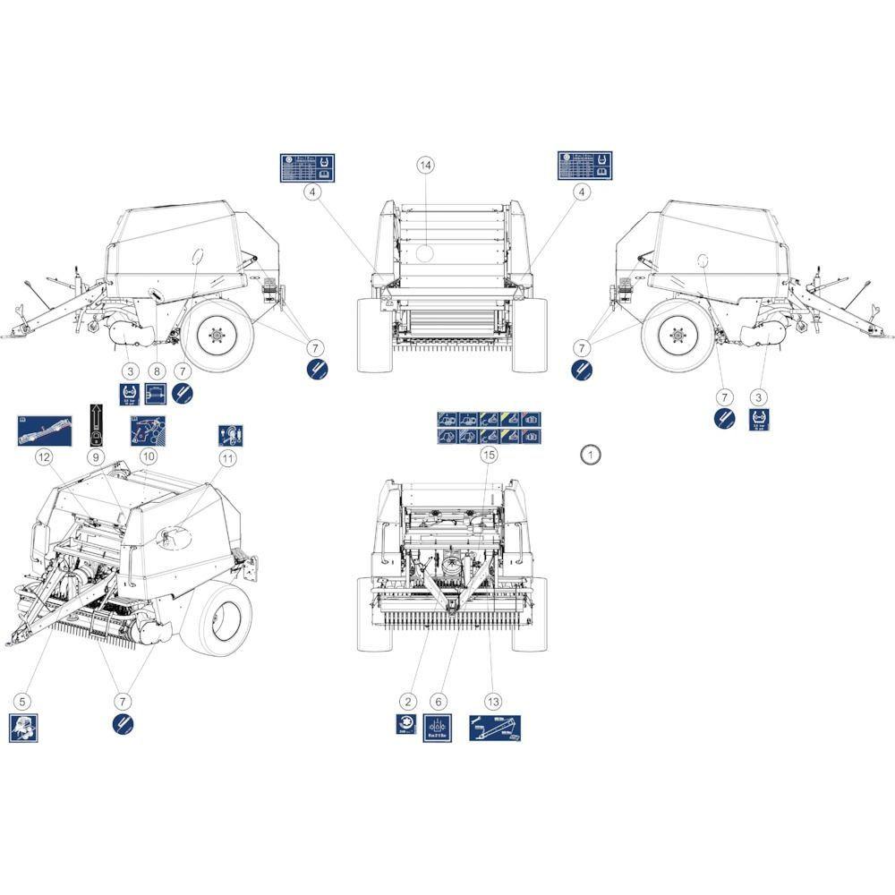 57 Stickers instructies passend voor KUHN FB2135