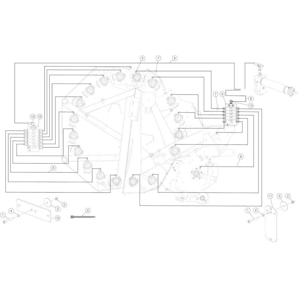 54 Smeersysteem automatisch passend voor KUHN FB2135