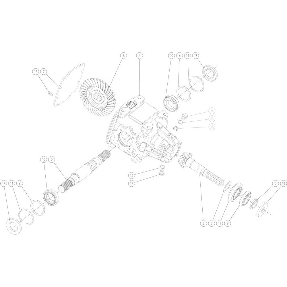 61 Tandwielkast 1000 omw/min passend voor KUHN FB2135