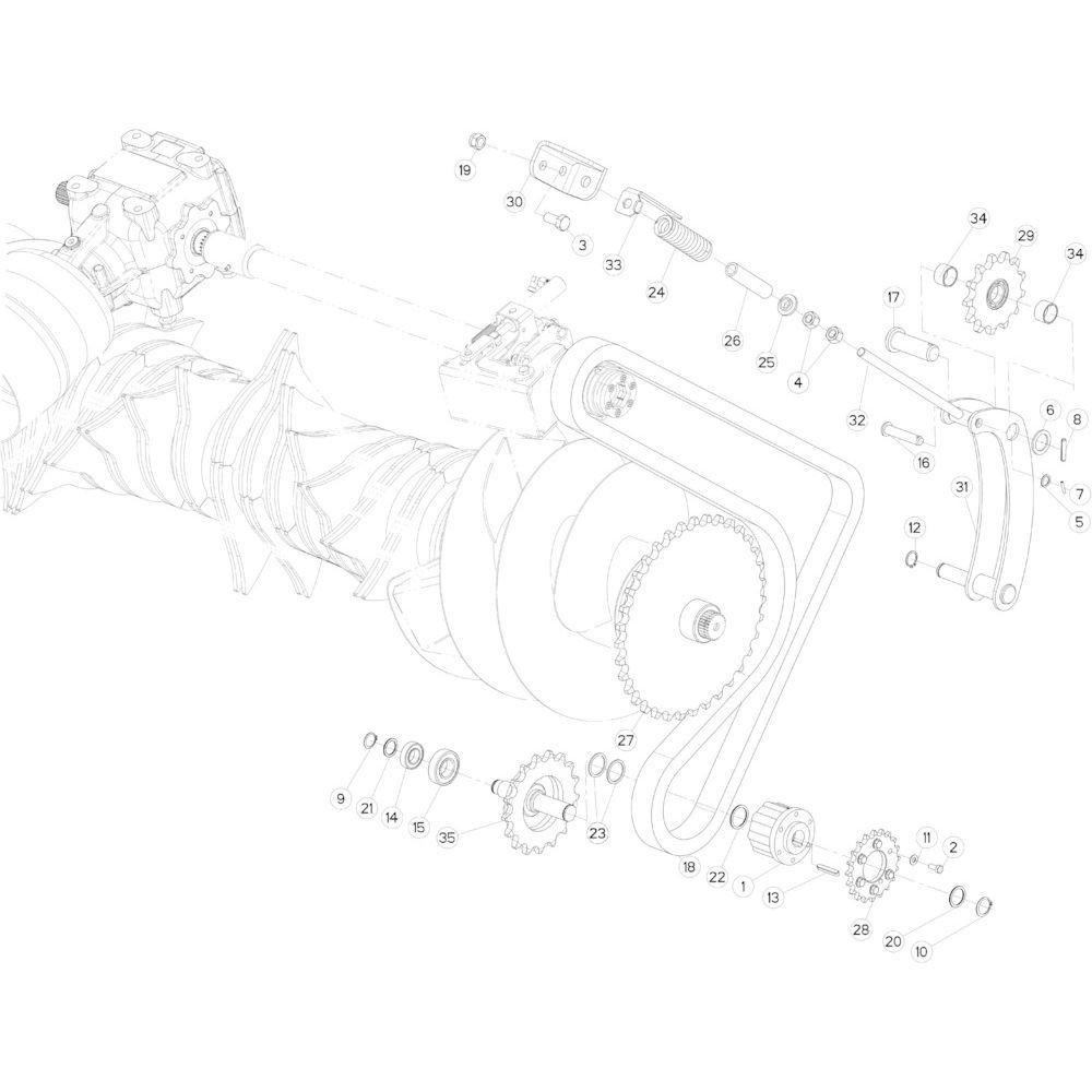 32 Kettingspanner passend voor KUHN FB2135