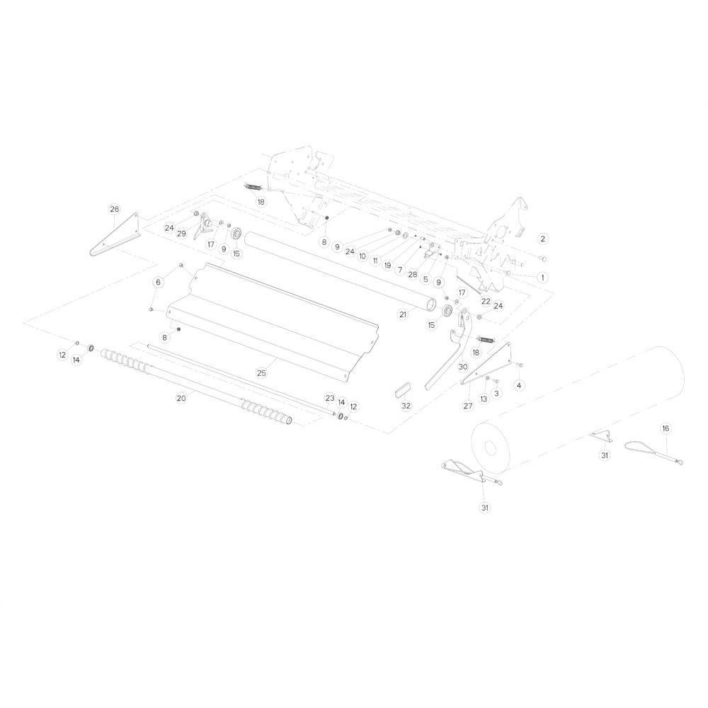 39 Netwikkelset passend voor KUHN FB2135