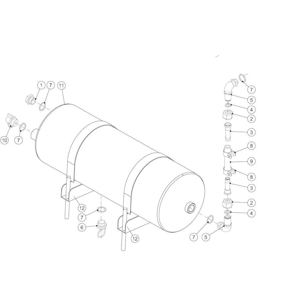 08 Pneumatische rem passend voor KUHN FB2135