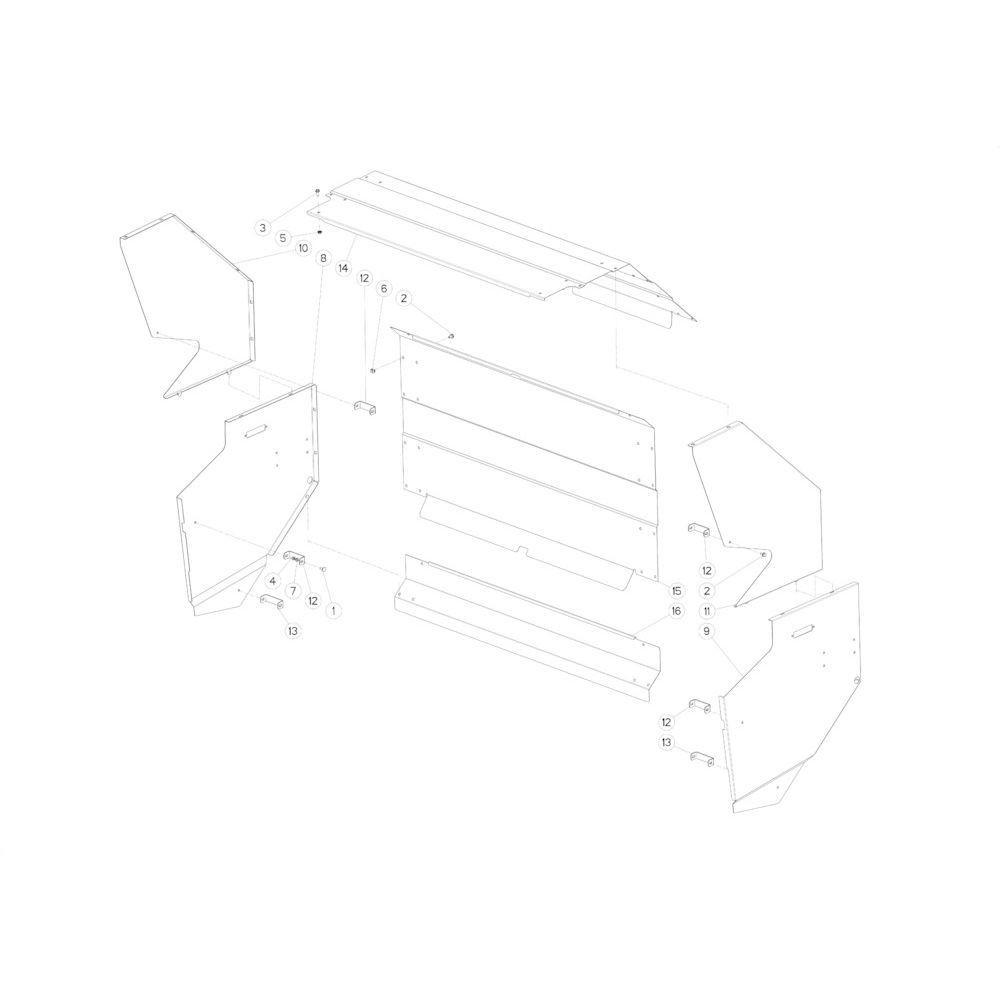 48 Beschermingen achterzijde passend voor KUHN FB2135