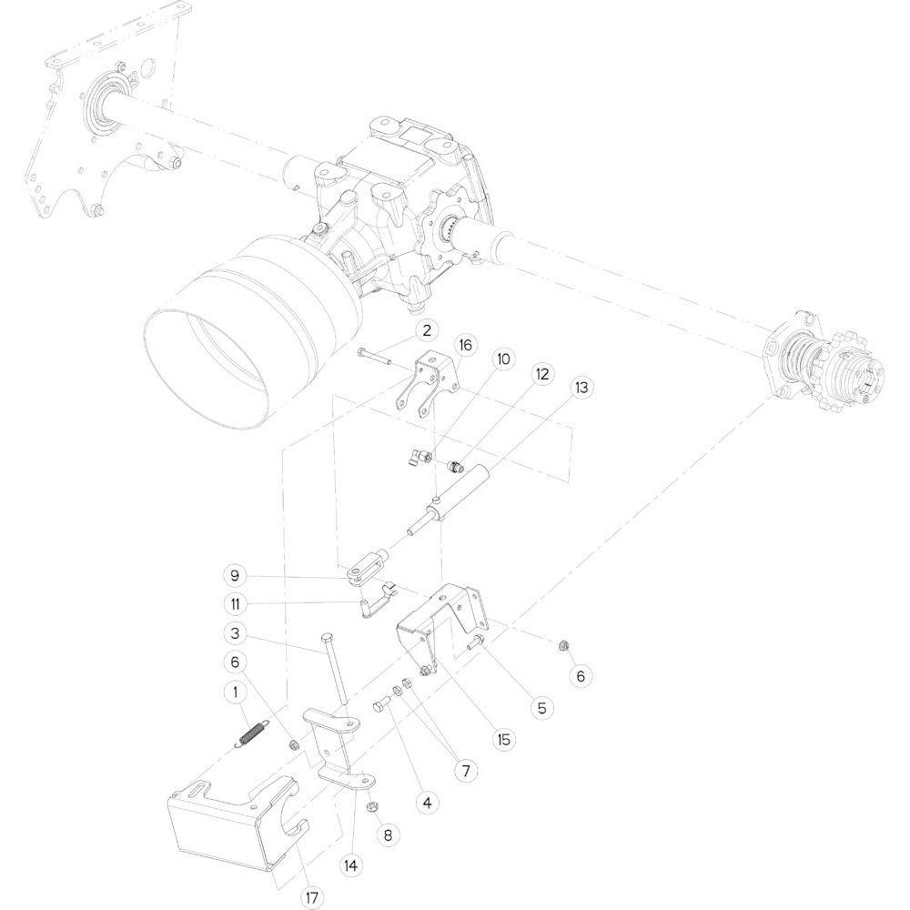 02 Rotorontkoppeling, hydraulisch passend voor KUHN FB3130