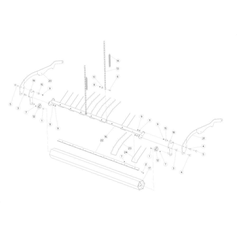 24 Opraper rol passend voor KUHN FB3130