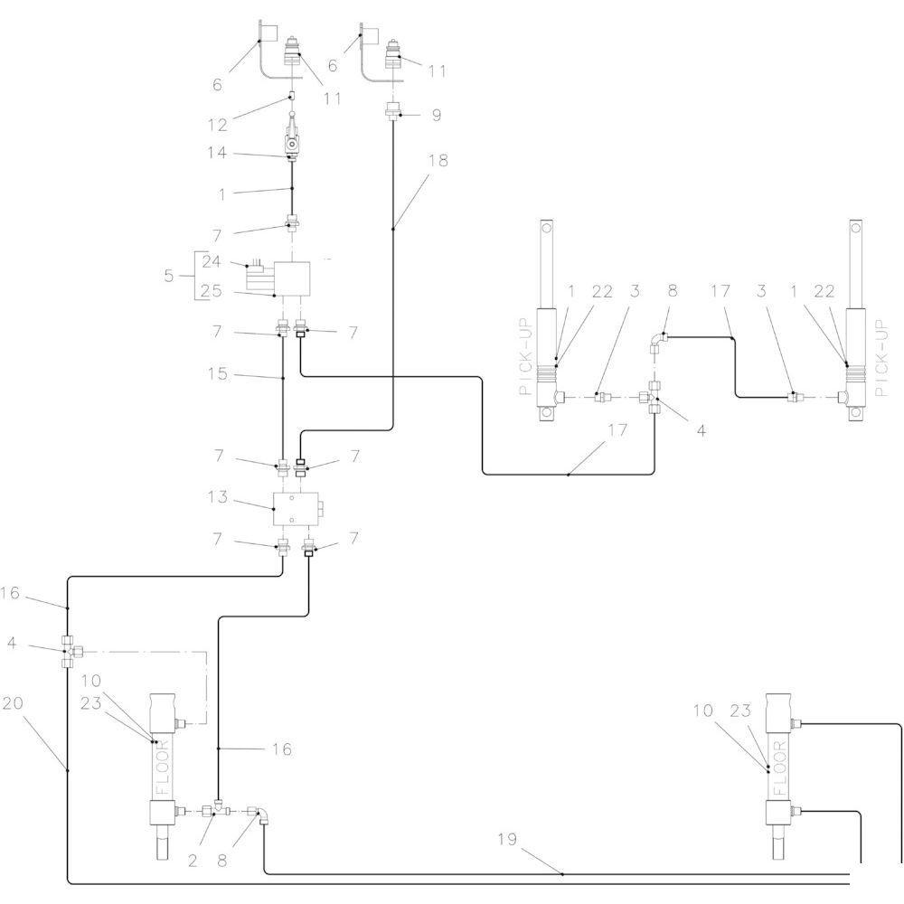 36 Hydraulisch R passend voor KUHN FB3130