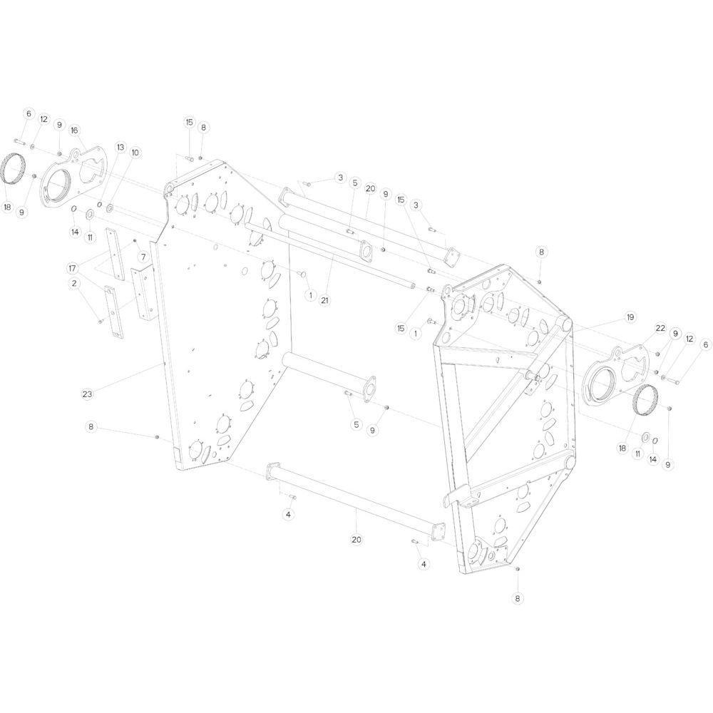 14 Achterklep passend voor KUHN FB3130