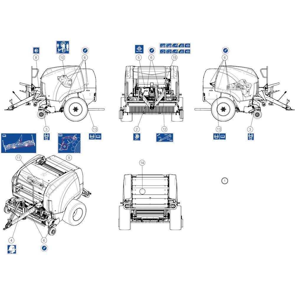 53 Stickers instructies passend voor KUHN FB3130