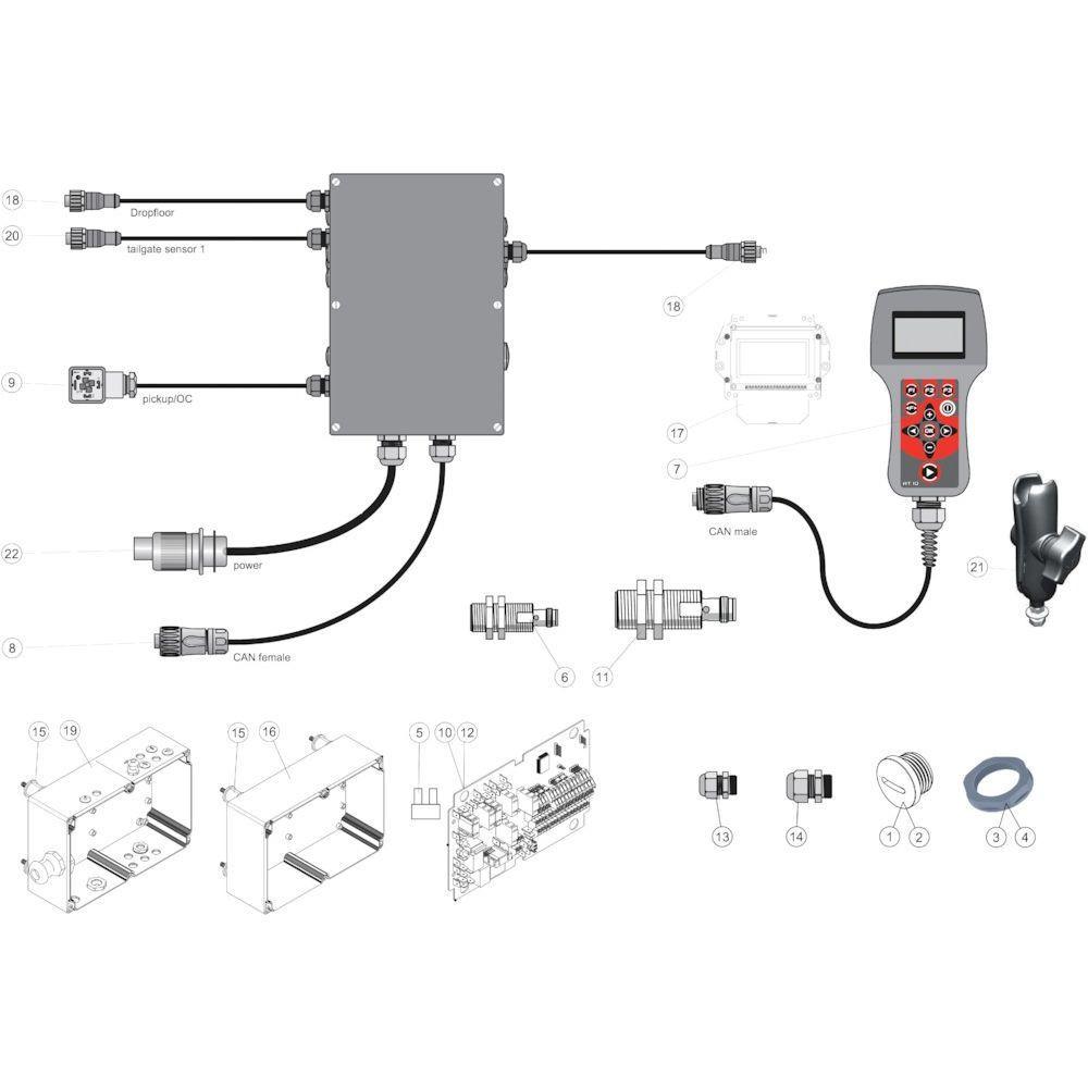46 Elektrische regelaar passend voor KUHN FB3130