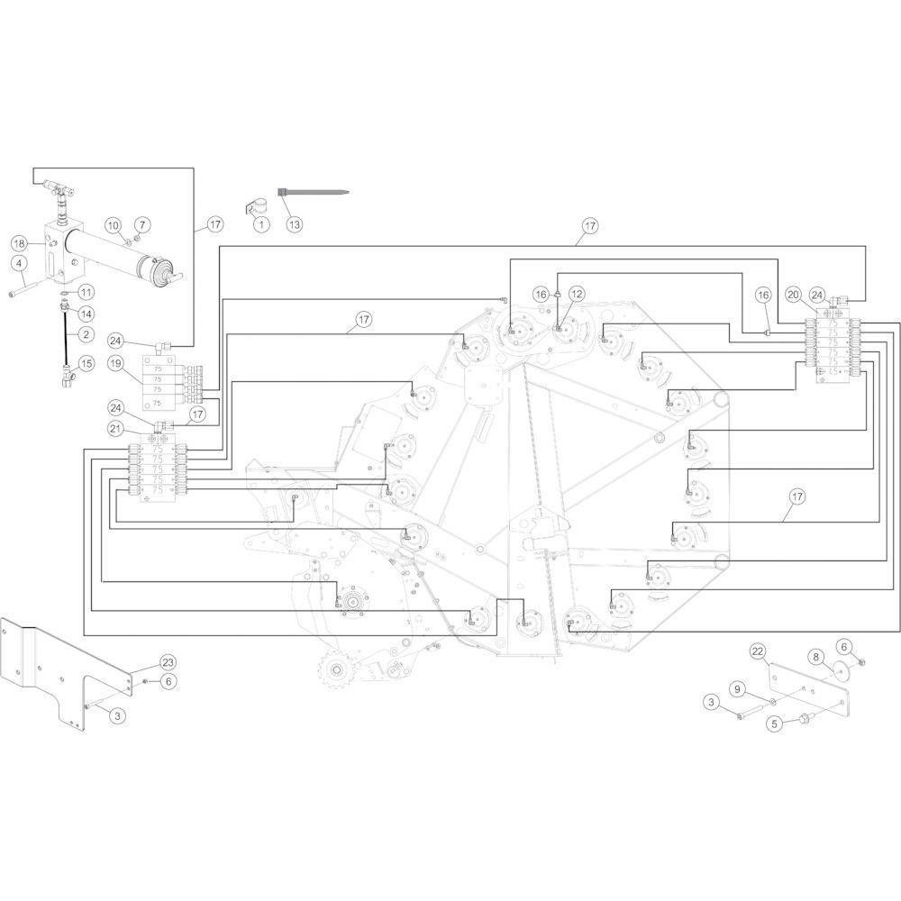 49 Smeersysteem automatisch passend voor KUHN FB3130