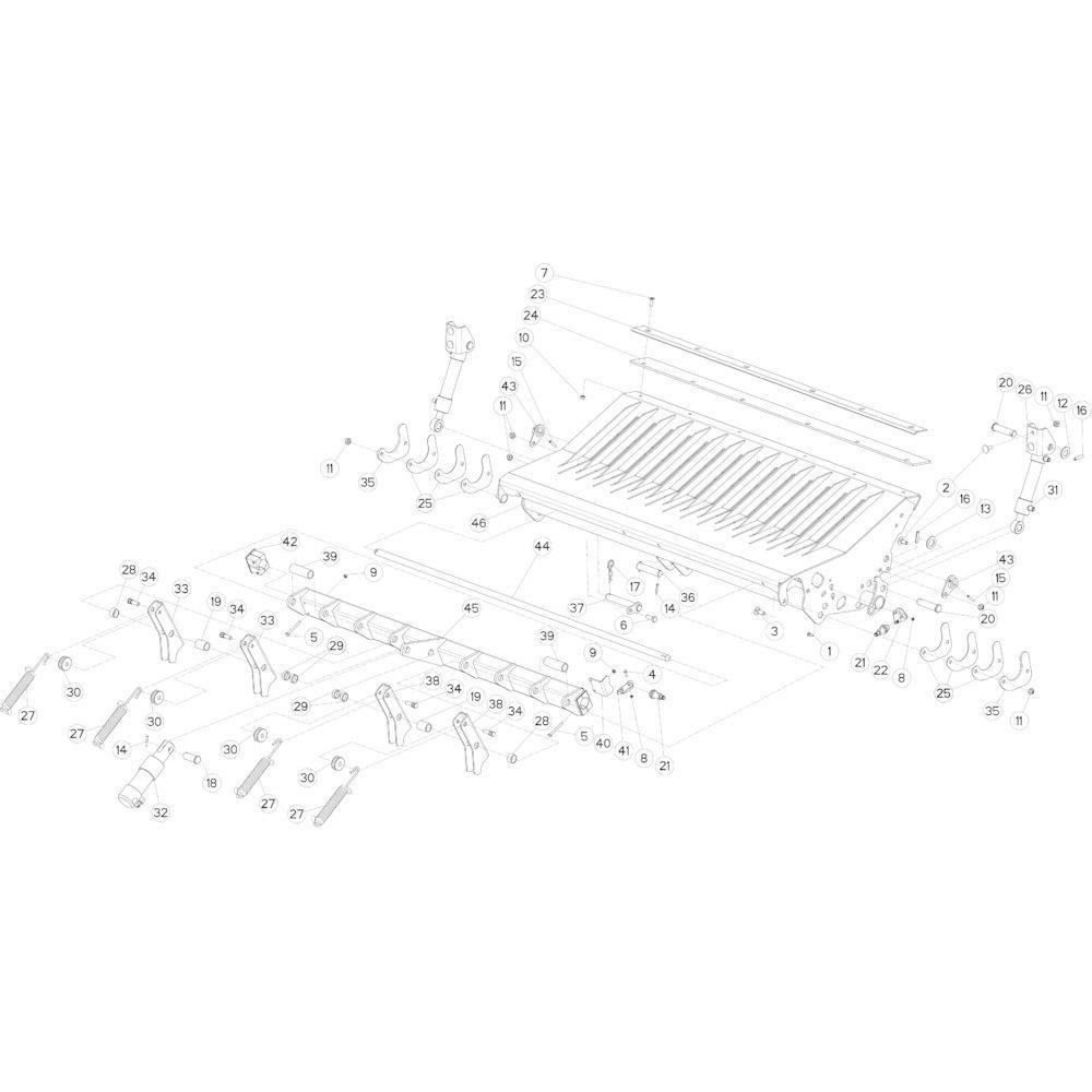29 Valklep 14-0C passend voor KUHN FB3130