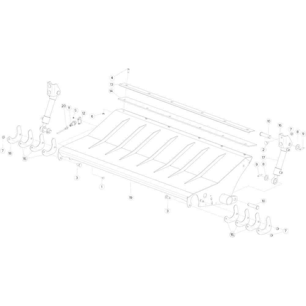 29 Valt op de grond passend voor KUHN FB3130