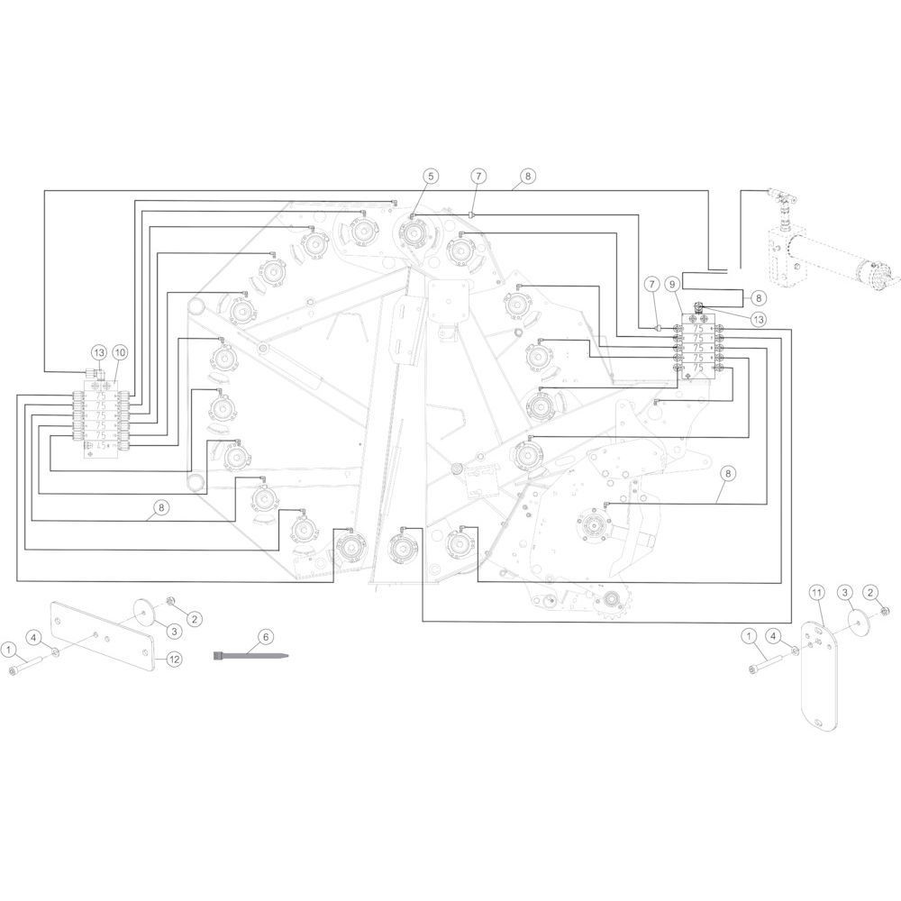 51 Smeersysteem automatisch passend voor KUHN FB3130