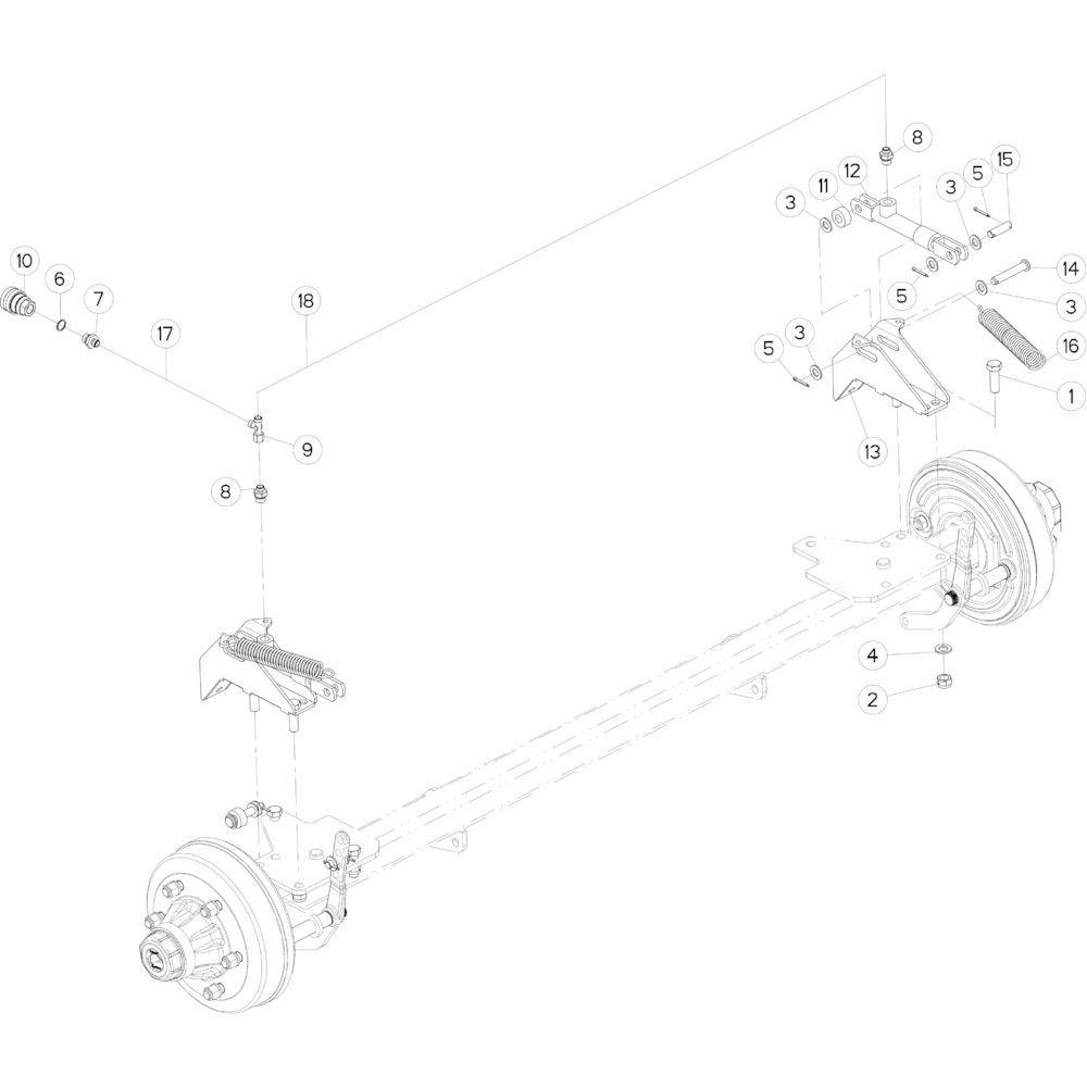 11 Hydraulische remmen passend voor KUHN FB3130
