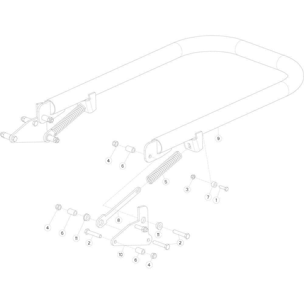 57 Balengeleider passend voor KUHN FB3130