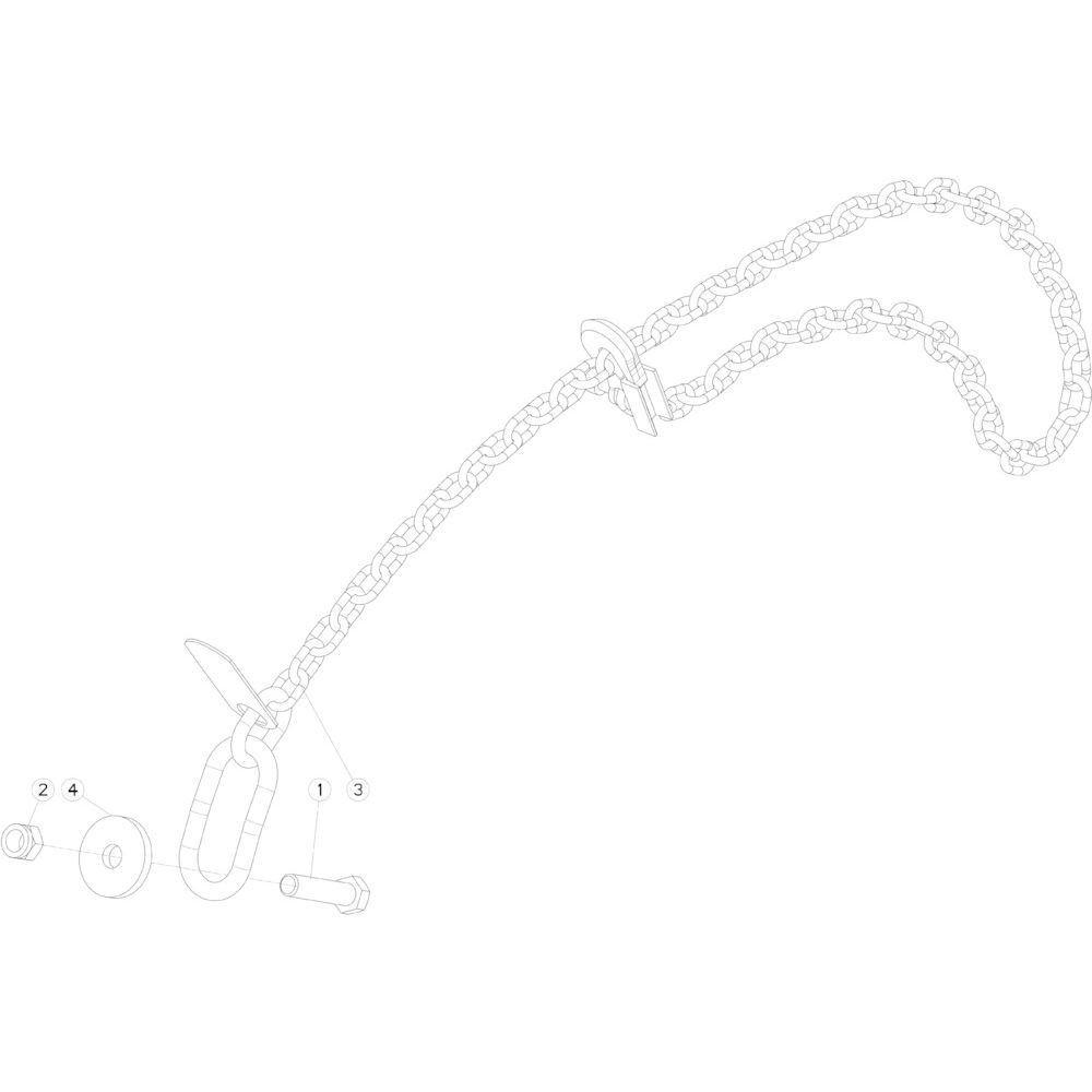 61 Veiligheidsketting passend voor KUHN FB3130